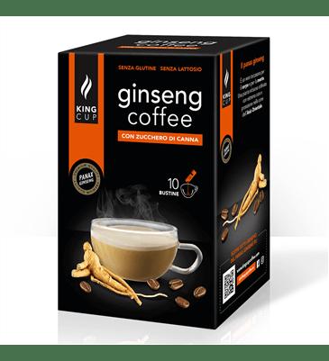 1 Caffè al Ginseng - 10 bustine solubili con Zucchero di Canna