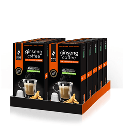 1 Ginseng Coffee con Zucchero di Canna capsula Nespresso® – Promozione 10 confezione + 2 Confezioni GRATIS