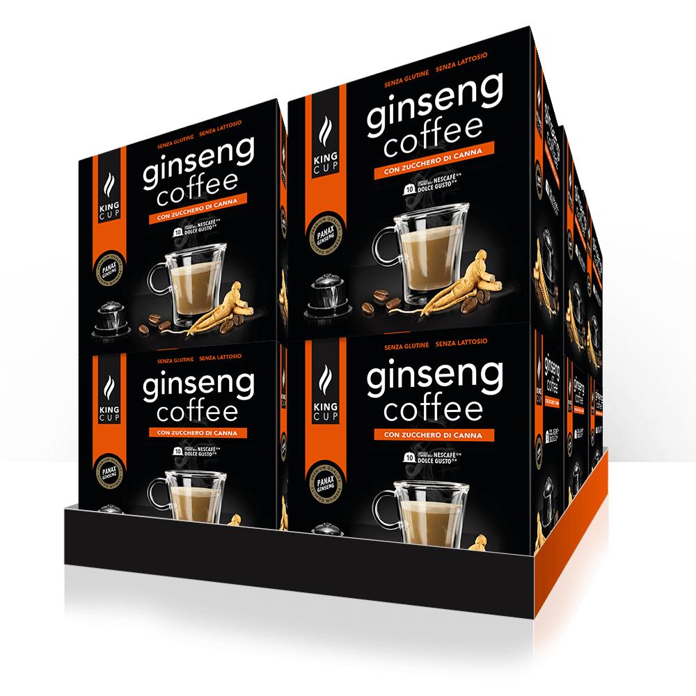 1 Ginseng Coffee con Zucchero di Canna Nescafè Dolce Gusto® – Promozione 10 confezione + 2 Confezioni GRATIS