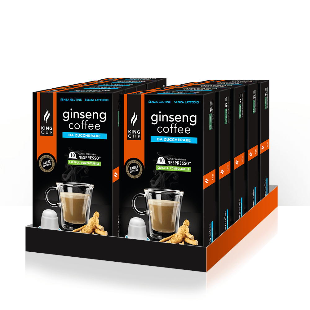 1 Ginseng Coffee da Zuccherare capsula Nespresso® – Promozione 10 confezione + 2 Confezioni GRATIS