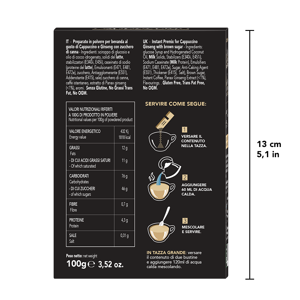 2 Box - Cappuccino Ginsneng Back