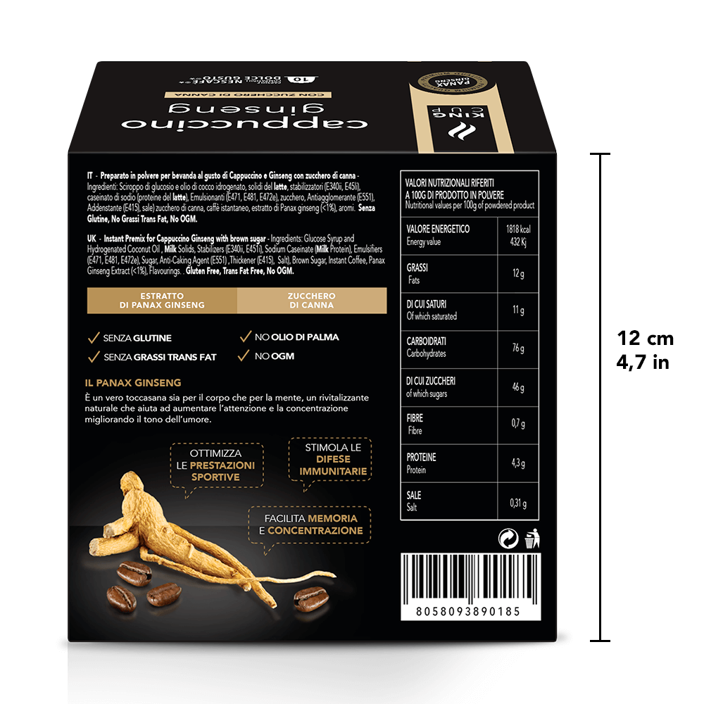 2 Docle Gusto - Cappuccino Ginseng Back