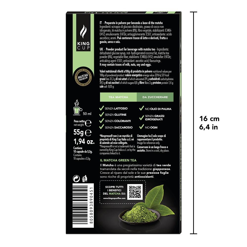 2 Nespresso - Matcha Green Tea Back