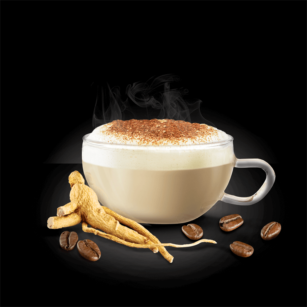 3 CappuccinoGinseng Tazza Solubile