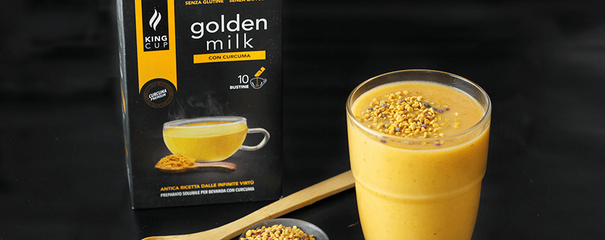Golden milk King Cup Smoothie con banana