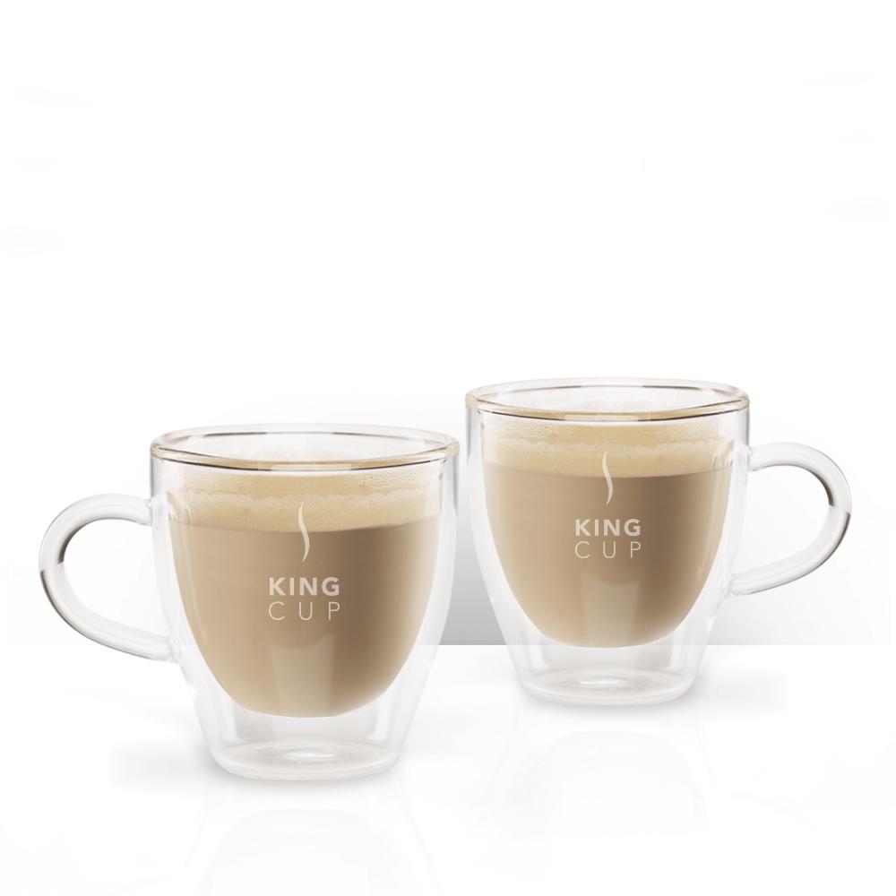Tazzine da espresso in vetro King Cup